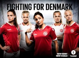 Simone Boye fighting for denmark