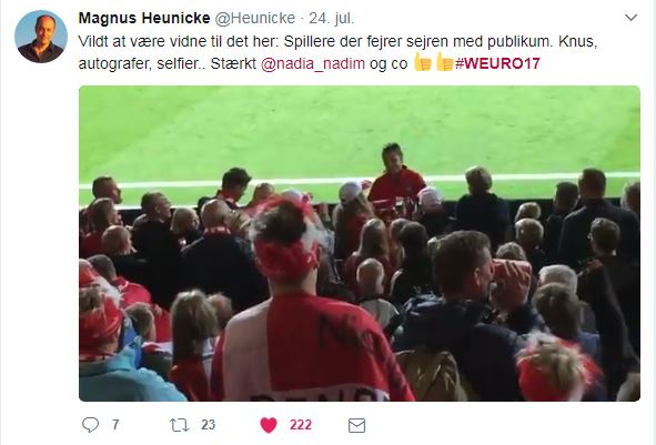 Magnus Heunicke EM tweet