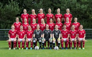 Kvindelandsholdet holdfoto 2017 Anders Kjærbye