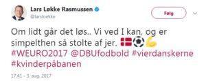 Lars Løkke EM finale