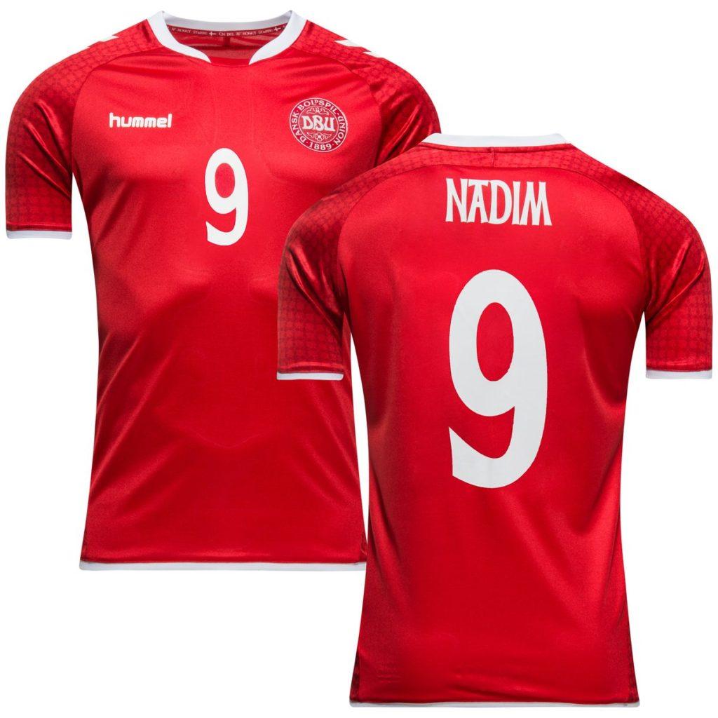 Nadia Nadim Landsholdstrøje for og bag