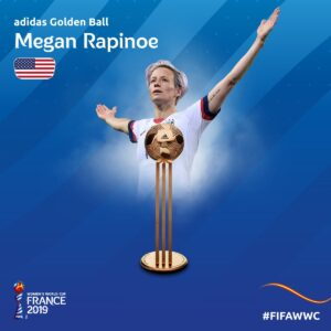 Megan Rapinoe Golden Ball 2019