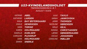 U23 Kvindelandsholdet 2019