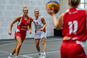 Kvindelandsholdet basketball 3x3 intern kamp