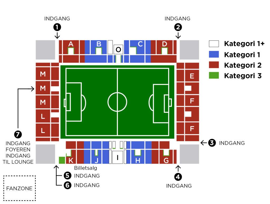 Viborg stadion Pladser