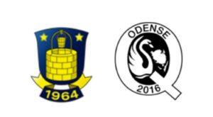 Brøndby mod Odense Q - kamplogo