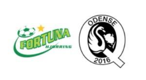 Fortuna Hjørring mod Odense q - kamplogo