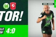 Highlights. Pernille Harder scorer sit femte Champions League mål i storsejr over Twente