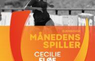 Cecilie Fløe er Månedens Spiller i Kvindeligaen i september.