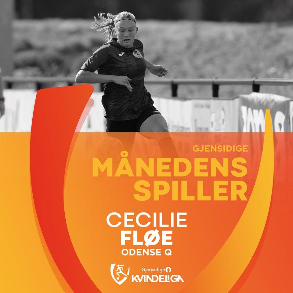 Månedens Spiller september 2019 Cecilie Fløe