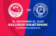 Kvindeligaen Live. BSF mod FC Thy - Thisted Q. 14. runde. 0-2