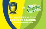 Se mål og highlights fra 2-2 kampen mellem Brøndby og Fortuna Hjørring