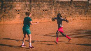 HAND ambassadør Josephine Touray under træning i Sierra Leone