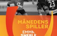 Stortalentet Emma Snerle er Månedens Spiller i Gjensidige Kvindeliga i november