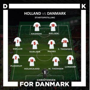 Startopstilling mod Holland U23 grafik